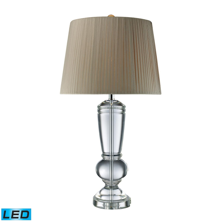 D1811-LED Castlebridge Table Lamp - Clear Crystal