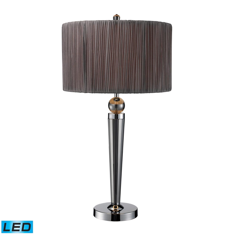 D1819-LED Reigel Table Lamp - Smoked Crystal