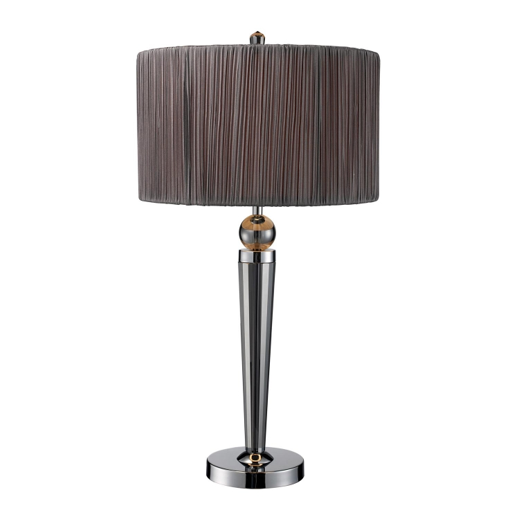 D1819 Reigel Table Lamp - Smoked Crystal