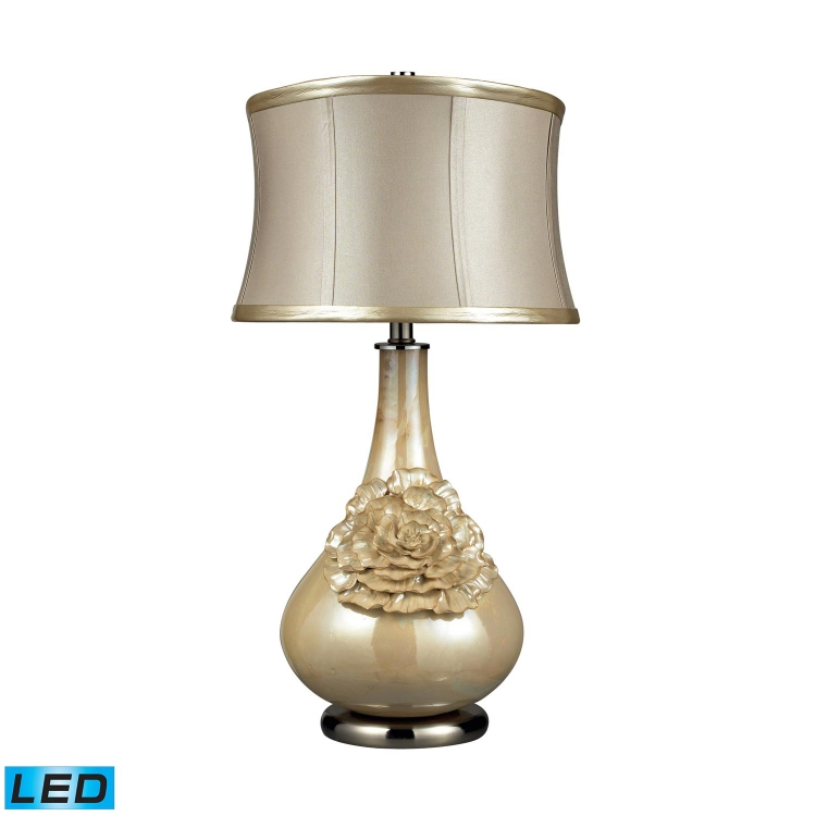 D2115-LED Eleanor Table Lamp - Pearlescent Cream