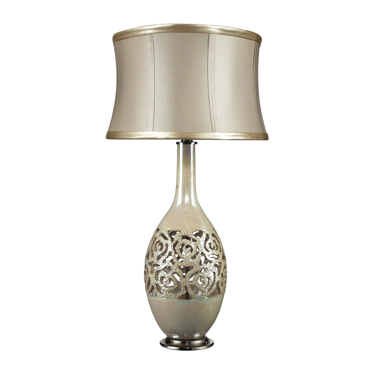 D2119 Lake Worth Table Lamp - Pearlescent Cream
