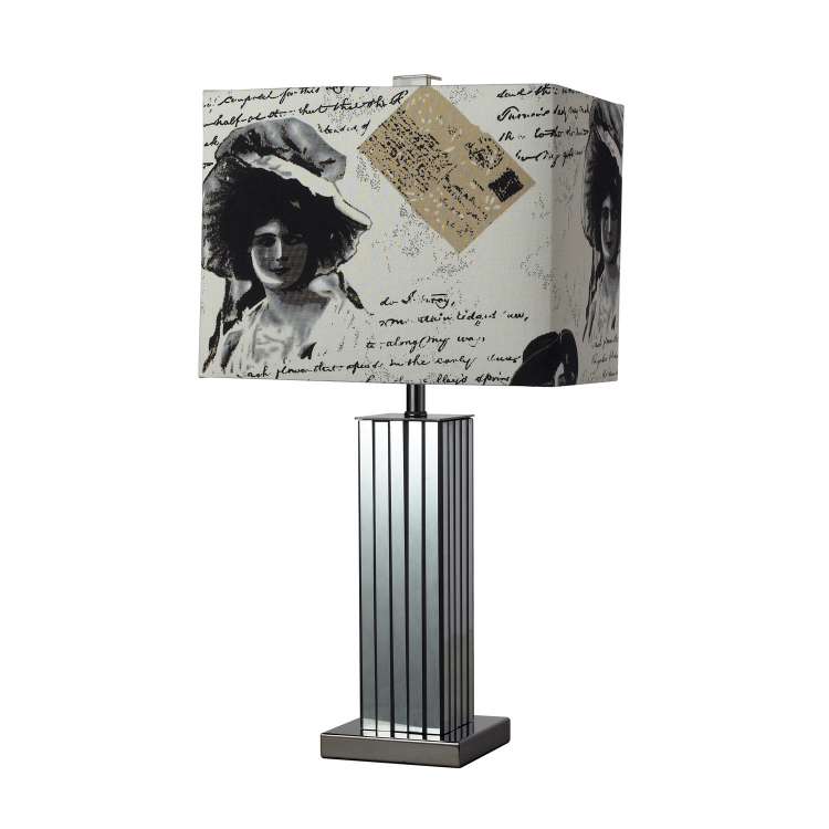 D2159 Meade Table Lamp - Black Nickel