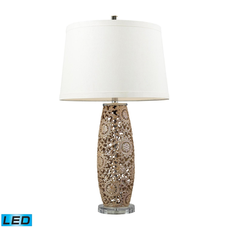 D2261-LED Maria Table Lamp - Golden Pearl