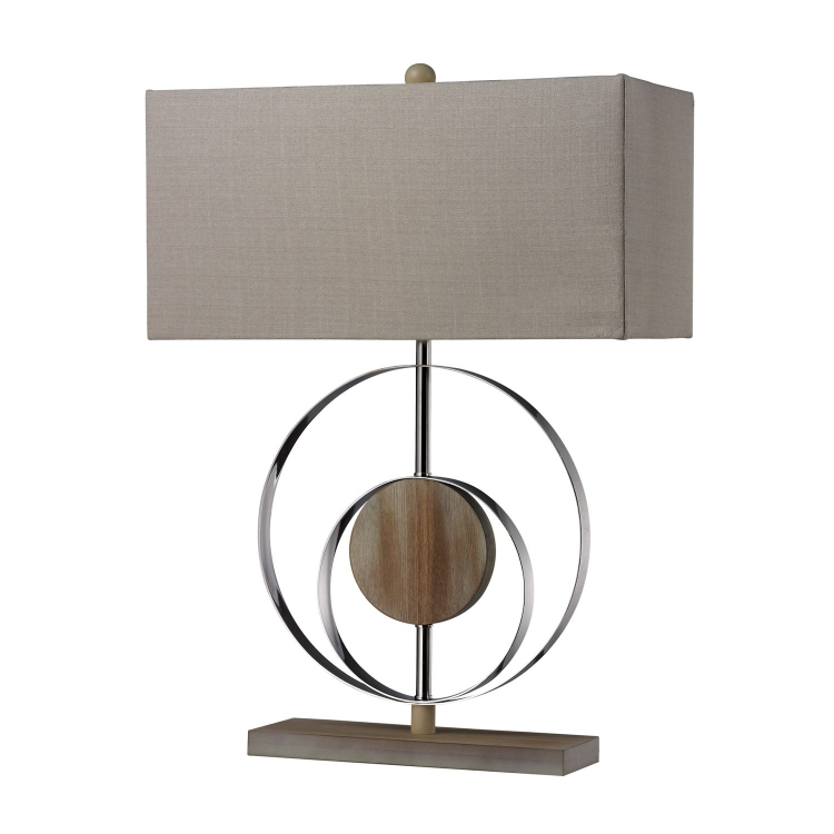 D2297 Shiprock Table Lamp - Bleached Wood with Chrom