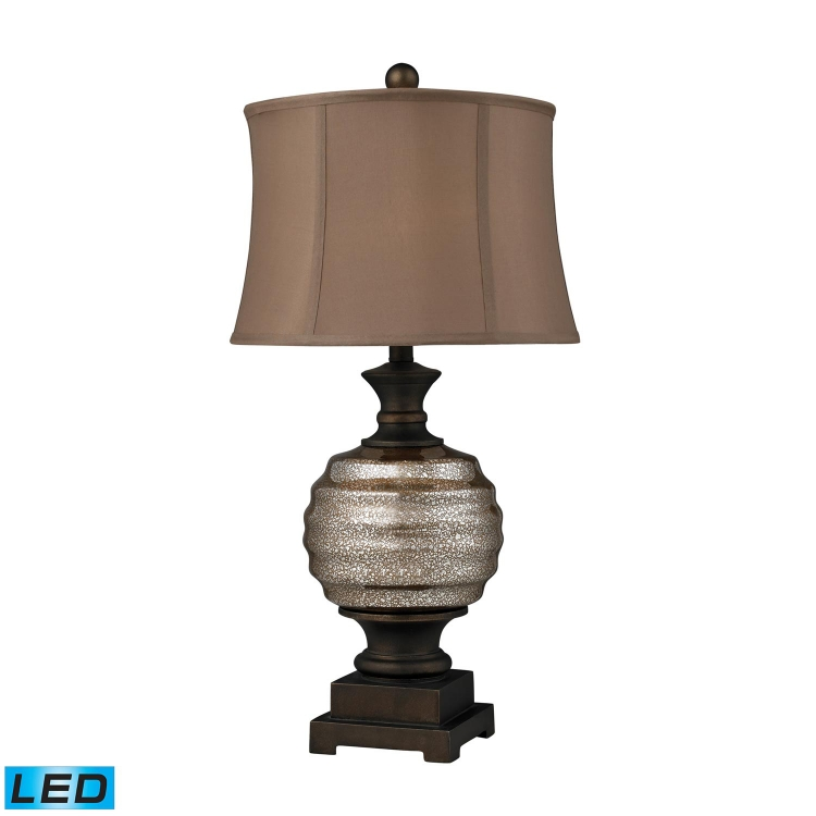 D2308-LED Grants Pass Table Lamp - Antique Mercury Glass and Bronze Accents