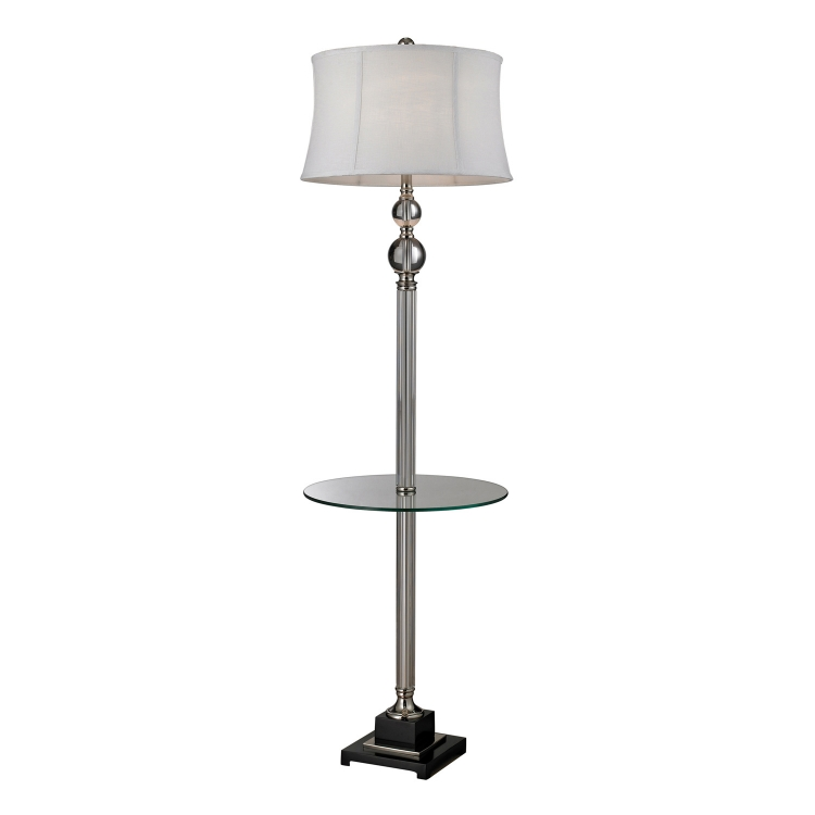 D2310 Corvallis Floor Lamp - Clear / Polished Nickel