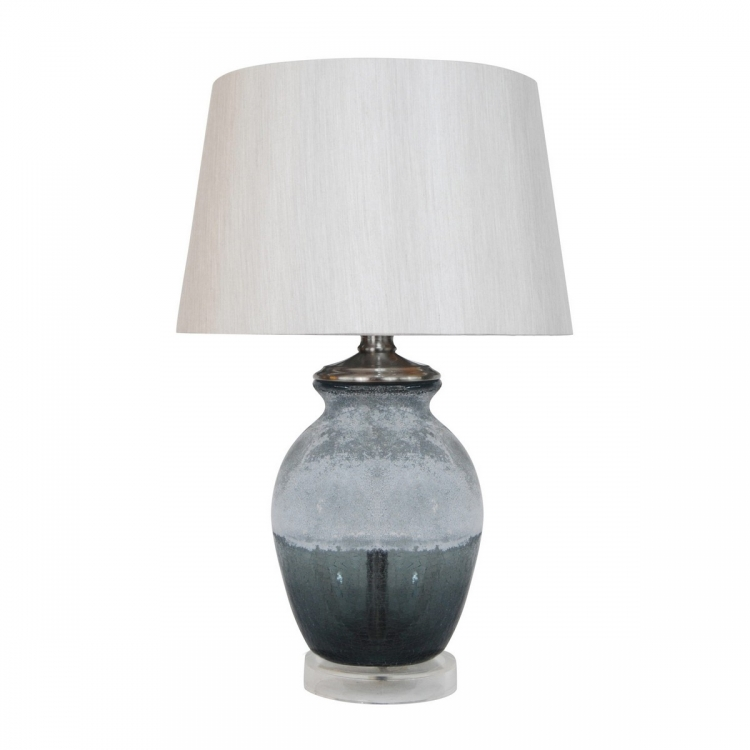 D295 Table Lamp - Grey Crackle with Frosting