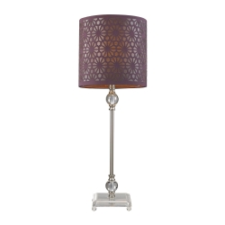 HGTV145 Table Lamp - Brushed Steel / Clear