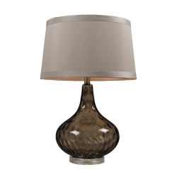 HGTV148 Table Lamp - Coffee Smoked
