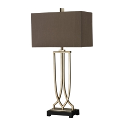 HGTV229 Table Lamp - Antique Silver Leaf