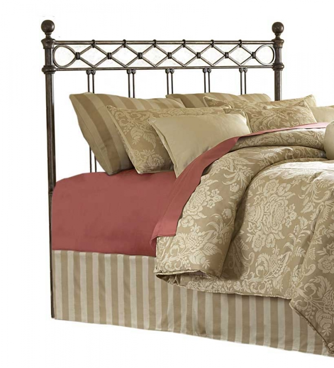 Argyle Headboard-Copper Chrome-Fashion Bed Group