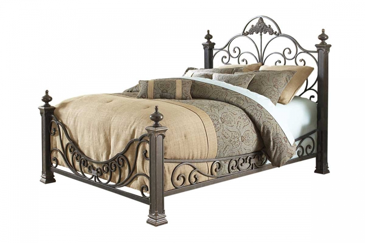 Baroque Bed-Gilded Slate