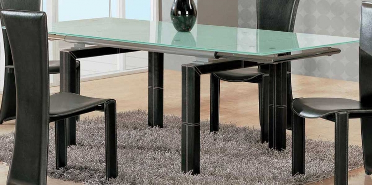 GF-017 Dining Table-Wenge Leather