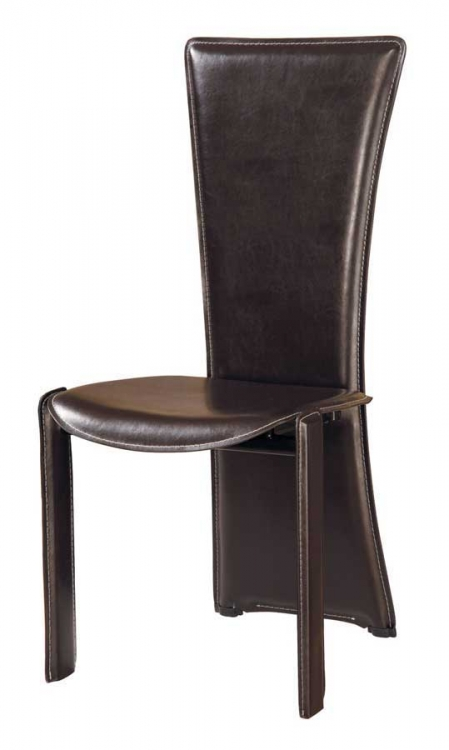 GF-017 Dining Chair-Wenge PVC