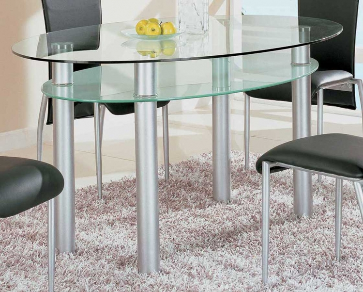 GF-050 Dining Table-Brushed Steel