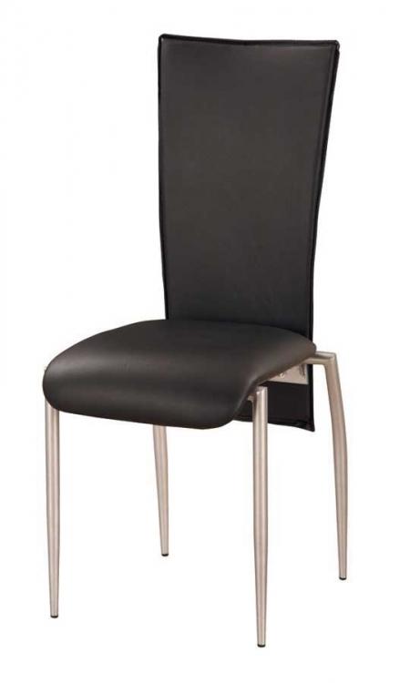 GF-050 Dining Chair-Black PVC