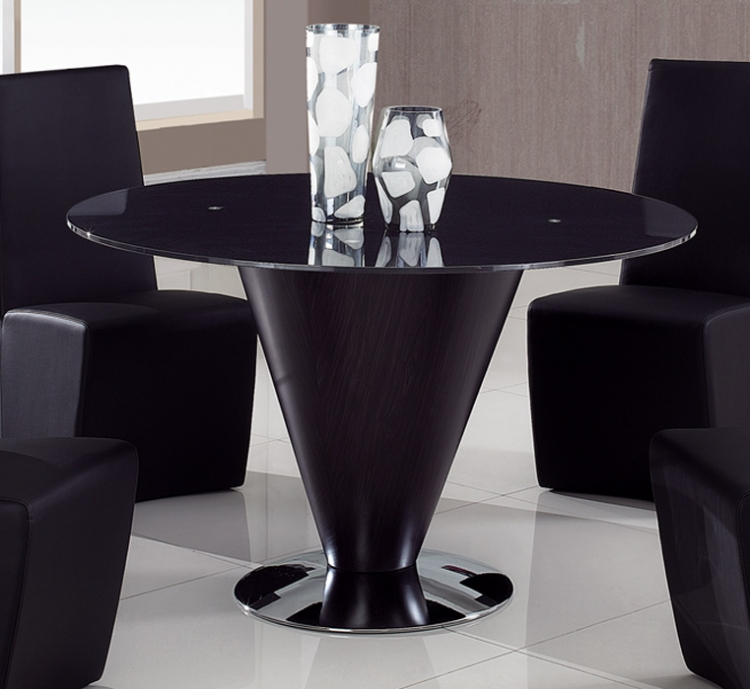 105 Dining Table - Black Glass