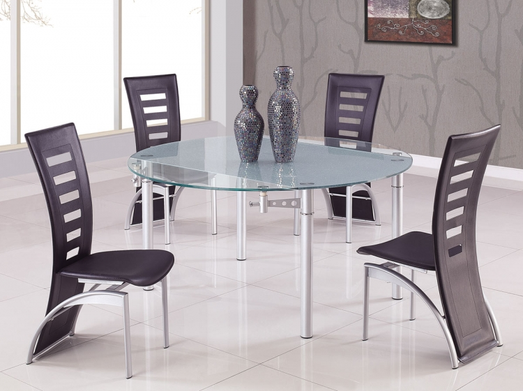 135 Dining Set A - Black - Global Furniture