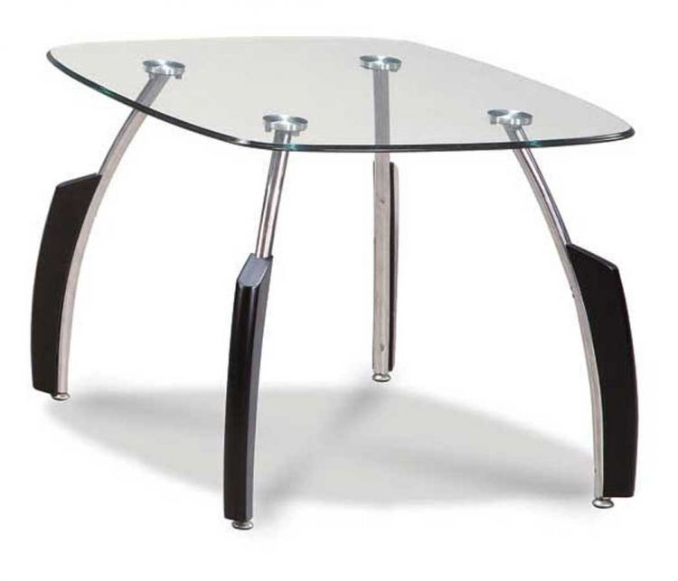 138 End Table - Black/Chrome