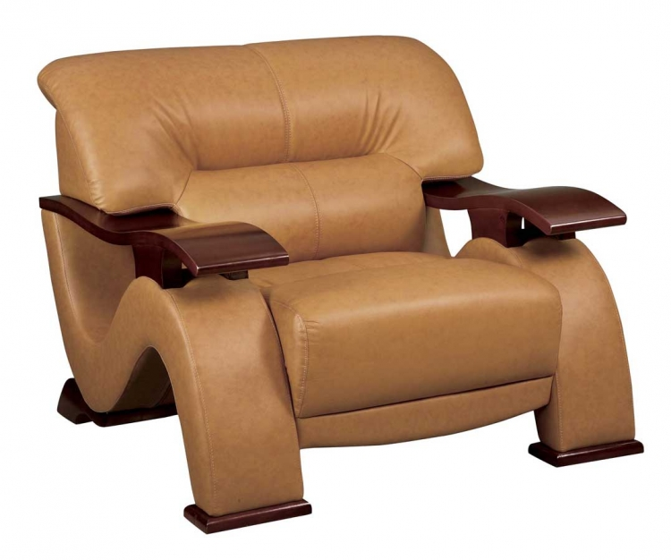 2033 Brown Leather Chair Global Furniture USA