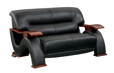 2033 Love Seat - Black - Global Furniture