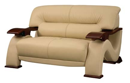 2033 Love Seat - Cappuccino - Global Furniture