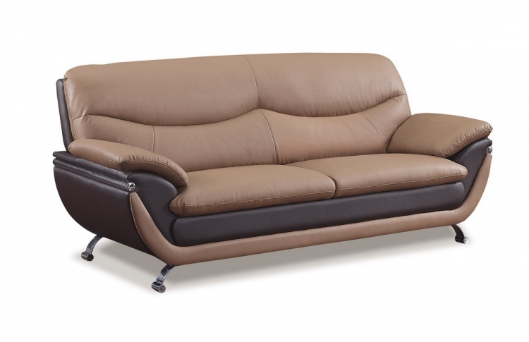 2106 Sofa - Brown/Dark Brown - Global Furniture
