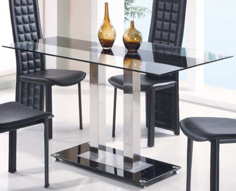 GF-2108 Dining Table - Black Stripe