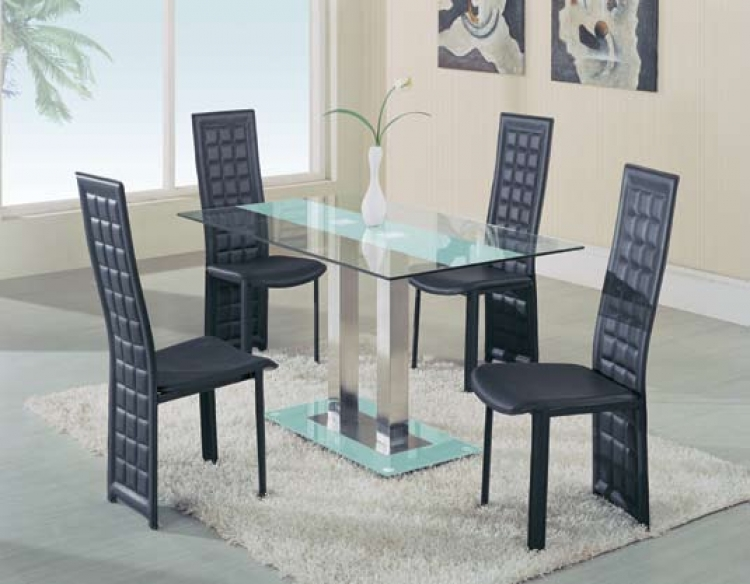 GF-2108 Dining Set - Frosted Stripe - Global Furniture