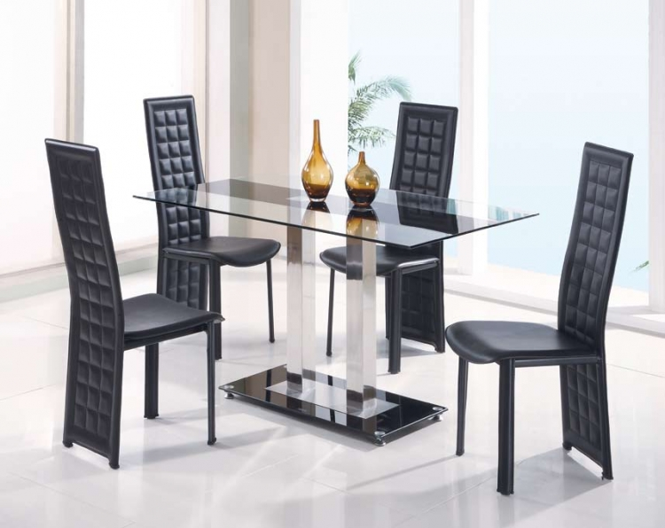 GF-2108 Dining Set - Black Stripe - Global Furniture