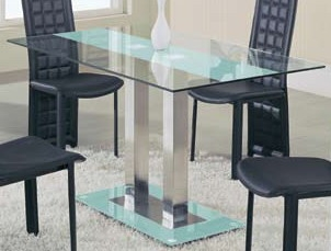 GF-2108 Dining Table - Frosted Stripe - Global Furniture