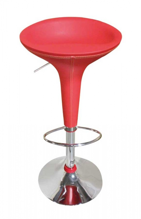 219 Bar Stool - Red - Global Furniture