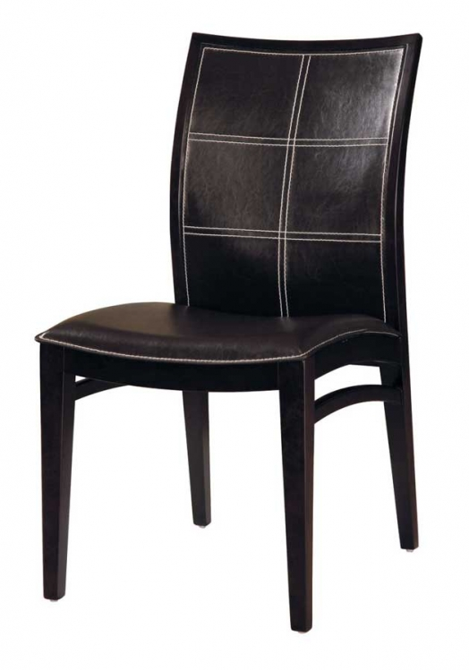 GF-3110 Dining Chair-Wenge Leather