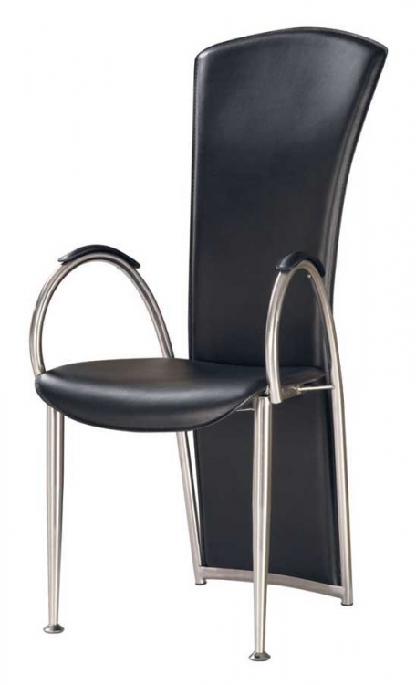 GF-487 Arm Chair-Black PVC