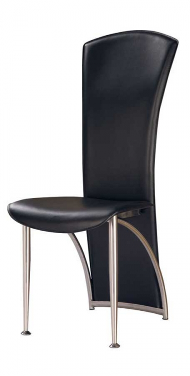 GF-487 Dining Chair-Black PVC