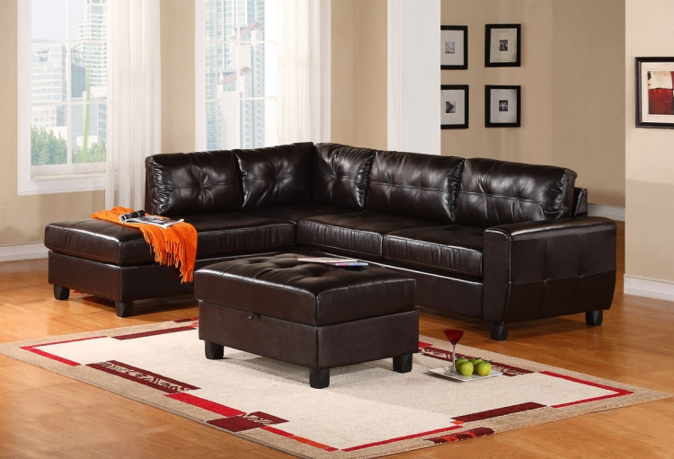 5190 Sectional Sofa Set - Espresso - Global Furniture