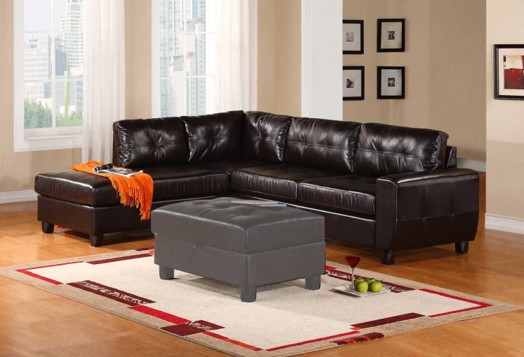 5190 Sectional Sofa - Espresso - Global Furniture