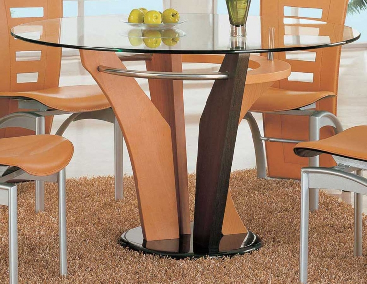 5443 Dining Table - Brown/Light Brown