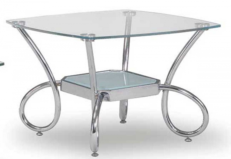 559 End Table - Chrome - Global Furniture