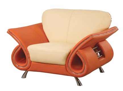559 Chair - Beige/Orange - Global Furniture
