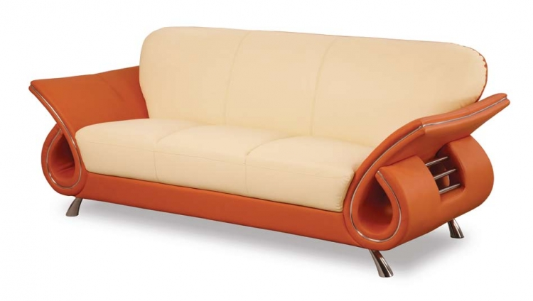 559 Sofa - Beige/Orange - Global Furniture