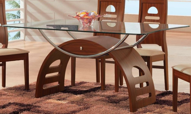 GF-73 Dining Table - Brown/Beige