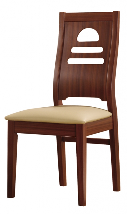 73 Dining Chair - Mahogany/Beige