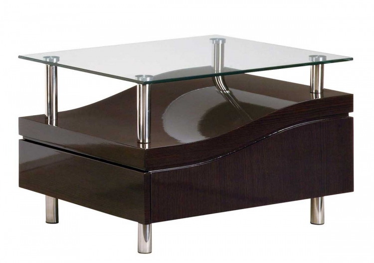 759 End Table - Wenge/Chrome - Global Furniture