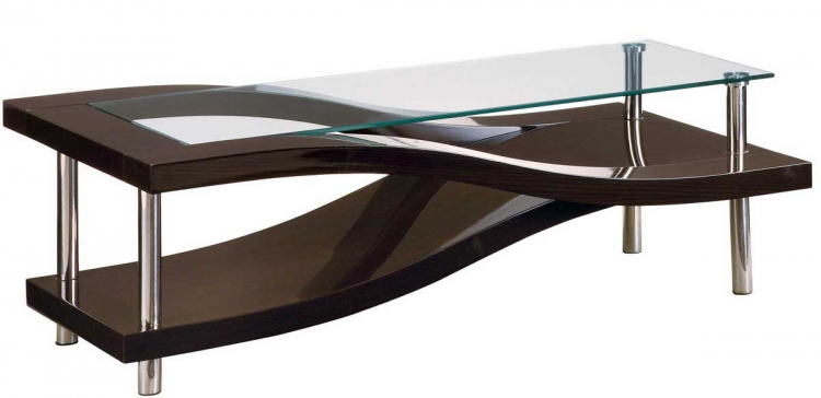 759 Coffee Table - Wenge/Chrome - Global Furniture