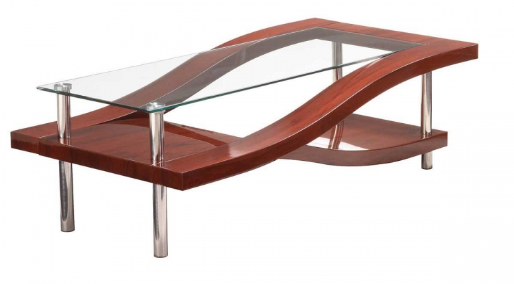 759 Coffee Table - Mahogany/Chrome