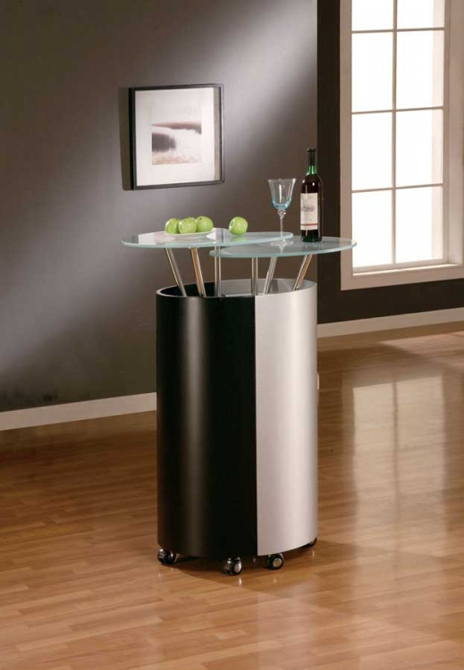 777 Bar - Black/Silver - Global Furniture