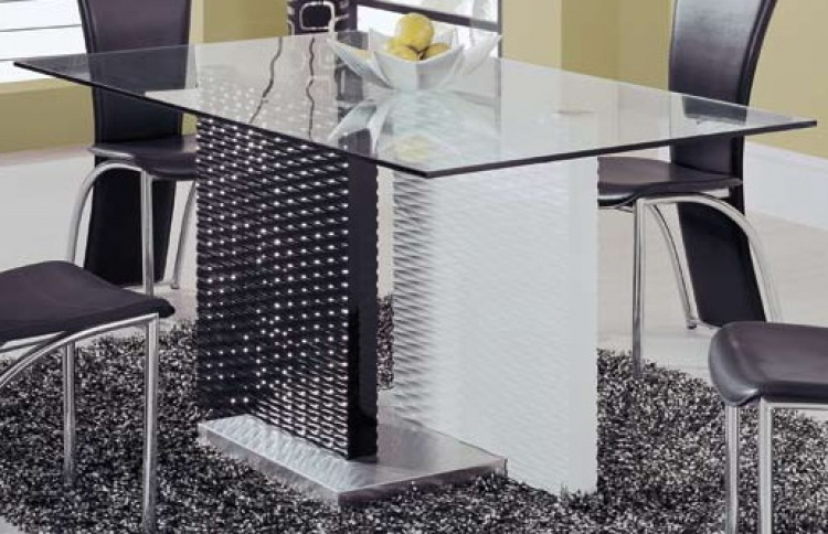 GF-78 Dining Table - Black/White