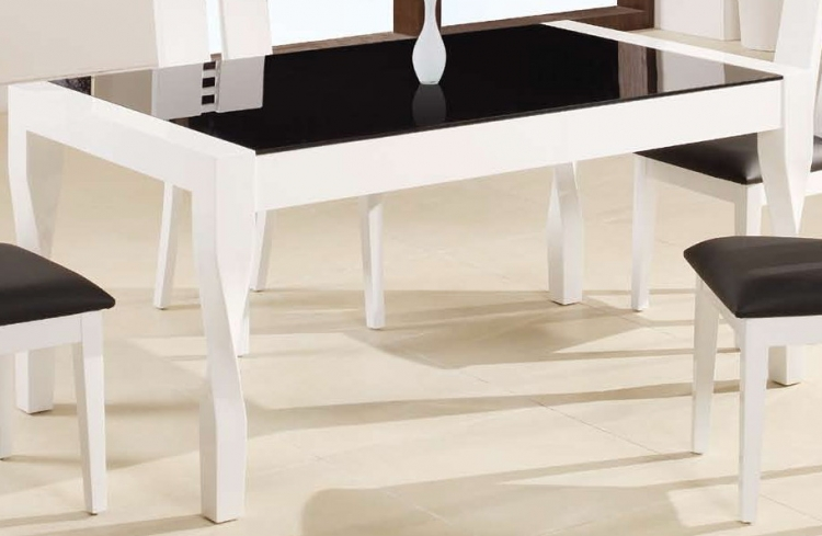 GF-822 Dining Table - Black/White