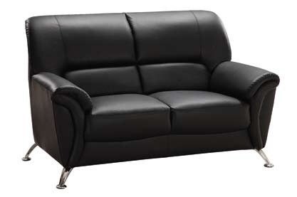 9103 Love Seat - Black - Global Furniture